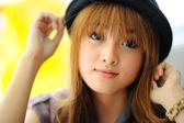 Красивая азиатская девочка — Стоковое фото