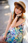 Beautiful asian girl — Стоковое фото