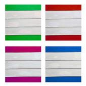 Four paint wood on white background — Stock Photo