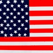 American flag painted on fence background. — Stock Photo #41609761