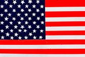 американский флаг, на фоне забора. — Стоковое фото