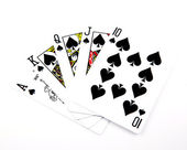 Playing cards - isolated on white background — Stock Photo