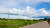 Krásná krajina s pěknou oblohou — Stock fotografie