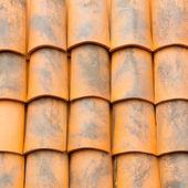 Close up of orange  roof texture — Stock Photo