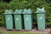Garbage bin  in the park — Stock Photo