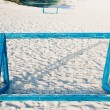 Goal for beach soccer — Stock Photo