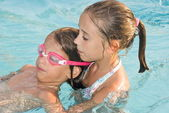 Swimming lesson — Stock Photo