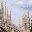 Spires of Cathedral of Milan — Stock Photo #12655418