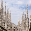 Spires of the Cathedral of Milan — Stock Photo