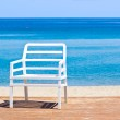 Plastic chair on the beach — Stock Photo #51446033