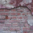 Background old brick wall with plaster — Stockfoto
