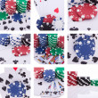 Stock Photo: Collage of images poker theme