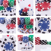 Collage of images poker theme — Stock Photo