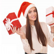 Beautiful girl with two gift boxes — Stock Photo #16272143
