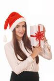 Kerstmis meisje — Stockfoto