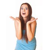 Giovane donna scioccata — Foto Stock