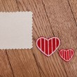 Stock Photo: Template for valentines day gift card
