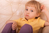 Girl with a look of resentment — Stock Photo