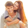 Playful lovely couple — Stock Photo