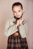 Portrait of fashion little girl — Stock Photo