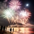 Fireworks beach of Forte dei Marmi Italy — Stock Photo #12494317