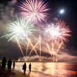 Stock Photo: Fireworks beach of Forte dei Marmi Italy