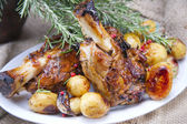 Baked meat, pork knuckle — Stock Photo