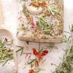 Mediterranean diet, bacon with herbs. — Stock Photo #21747411