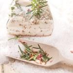 Mediterranean diet, bacon with herbs. — Stock Photo #21748767