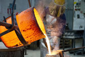 Bronze casting — Stock Photo