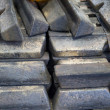 Bronze ingots — Stock Photo