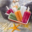Colourful Fruit Ice Jolly — Stock Photo