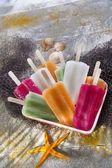 Colourful Fruit Ice Jolly — Stock Photo