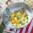 Fried Egg Scrambled — Stock Photo