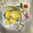 Ravioli With Butter And Sage — Stock Photo