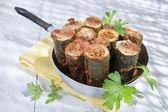 Zucchini Stuffed With Meat — Stock fotografie