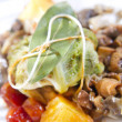 Bundle of cabbage with a side of mushrooms, selective focus — Stockfoto