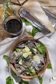 Traditional dish of the Valtellina Italy, Pizzoccheri — Photo