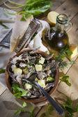 Traditional dish of the Valtellina Italy, Pizzoccheri — Stock Photo