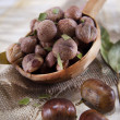 Stock Photo: Boiled Chestnuts