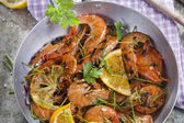 Shrimp to the stew — Stock Photo