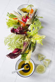Vinaigrette with mixed vegetables — Stock Photo
