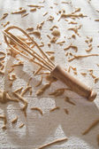 Composition of chestnut flour — Zdjęcie stockowe