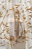 Composition of chestnut flour — Stock Photo
