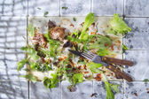 Were leftovers after a meal — Stock Photo