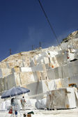 Cava di marmo bianco di carrara Italia — Foto Stock