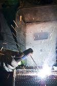 Work with the welder  — Stock Photo