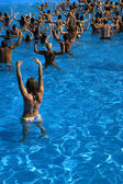 Water aerobics class — Stock Photo