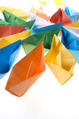 Small paper boats  — Stock Photo