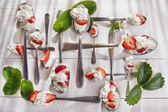 Strawberry with cream  — Stock Photo